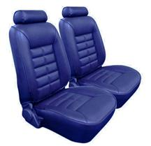 Mustang TMI Seat Upholstery Wedgewood Blue Vinyl (81-82) Coupe