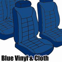 Mustang TMI Seat Upholstery Wedgewood Blue Cloth/Vinyl (1981) Ghia Coupe