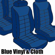 Mustang TMI Seat Upholstery Wedgewood Blue Cloth/Vinyl (81-82) Hatch
