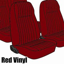 Mustang TMI Seat Upholstery Red Vinyl (81-83) High Back Coupe