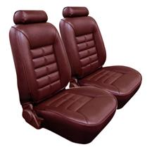 Mustang TMI Seat Upholstery Medium Red Vinyl (81-83) Low Coupe