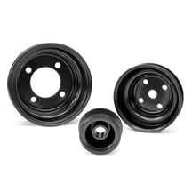 Mustang Stock Steel Pulley Kit  Black (79-93)