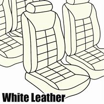 Mustang TMI Seat Upholstery Opal White Leather (82-83) Low  Hatchback
