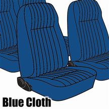 Mustang TMI Seat Upholstery Academy Blue Cloth (83-84) High  L Coupe