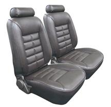 Mustang TMI Seat Upholstery Charcoal Gray Vinyl (84-86) Coupe
