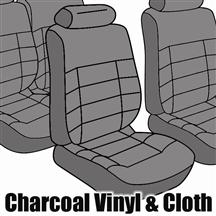Mustang TMI Seat Upholstery Charcoal Gray Cloth (84-86) Hatchback