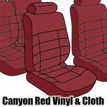 Mustang TMI Seat Upholstery Canyon Red Cloth (84-86) Hatchback