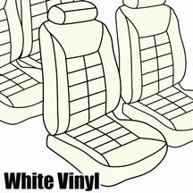 Mustang TMI Seat Upholstery Oxford White Vinyl (84-92) Coupe