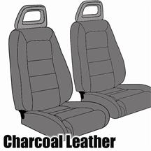 Mustang TMI Sport Seat Upholstery Charcoal Gray (85-86) Hatchback