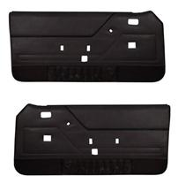 Mustang TMI Door Panels W/ Power Windows Dark Charcoal/Black (85-86)