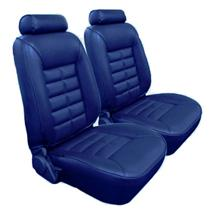 Mustang TMI Seat Upholstery Regatta Blue Vinyl (85-89) Coupe