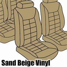 Mustang TMI Seat Upholstery Sand Beige Vinyl (85-89) Coupe