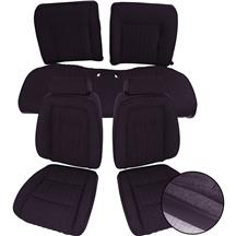 Mustang TMI Seat Upholstery Black Cloth (90-91) Coupe