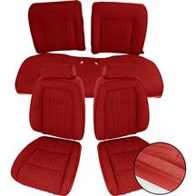 Mustang TMI Sport Seat Upholstery Red Cloth (87-89) Convertible