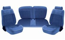 Mustang TMI Seat Upholstery Regatta Blue Cloth (87-89) LX Convertible