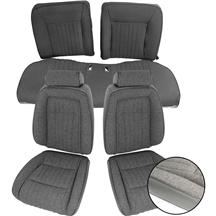 Mustang TMI Sport Seat Upholstery Smoke Gray Cloth (87-89) Hatchback