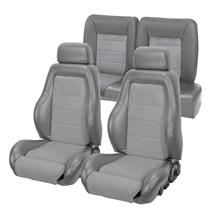 Mustang 03-04 Cobra Style Upholstery with Seat Foam Smoke Gray/ Graphite Insert (87-89) hatchback