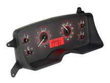 Mustang Digital Instrument Cluster Carbon Face/Red Backlighting (87-89)