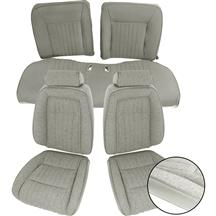 Mustang TMI Sport Seat Upholstery Titanium Gray Cloth (90-91) Convertible