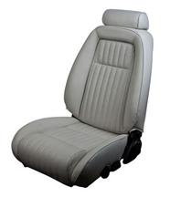 Mustang TMI Sport Seat Upholstery Titanium Gray Leather (90-91) Convertible