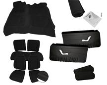 87-89 MUSTANG HATCHBACK BLACK INTERIOR KIT,  WITH SPORT SEATS