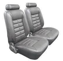 Mustang TMI Seat Upholstery Titanium Gray (90-92) LX Convertible