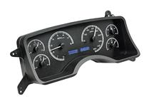 Mustang Digital Instrument Cluster Black Alloy, Blue Backlighting (90-93)
