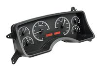 Mustang Digital Instrument Cluster Black Alloy, Red Backlighting (90-93)