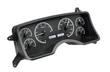 Mustang Digital Instrument Cluster Black Alloy, White Backlighting (90-93)