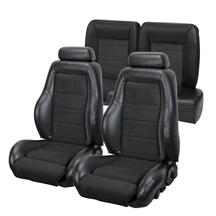 Mustang TMI 03-04 Cobra Seat Upholstery w/ Seat Foam Black Vinyl/Suede (92-93) Convertible