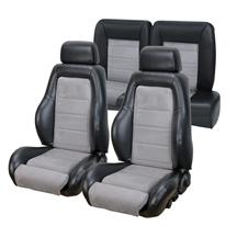 Mustang 03-04 Cobra Style Upholstery with Seat Foam Black Vinyl/ Graphite Suede (87-89) Convertible