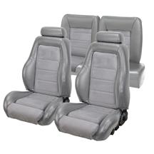Mustang TMI 03-04 Cobra Seat Upholstery w/ Seat Foam TItanium Gray/Graphite  (90-91) Hatchback