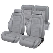 Mustang TMI 03-04 Cobra Seat Upholstery w/ Seat Foam Opal Gray/Graphite (1993) Hatchback