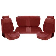 Mustang TMI Standard Seat Upholstery - Cloth Ruby Red (1993) Hatchback