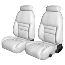 Mustang TMI Sport Seat Upholstery White Leather (94-96) Convertible