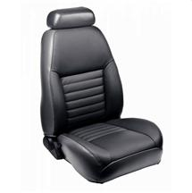 Mustang TMI Sport Seat Upholstery Dark Charcoal Leather (99-04) Convertible