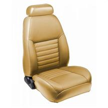 Mustang TMI Front Sport Seat Upholstery Parchment Vinyl (99-04)