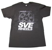 SVE Wheels T-Shirt, Large Dark Gray