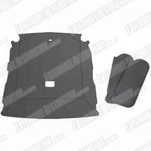 1987-89 Mustang Coupe Smoke Gray Cloth Sunvisor And Headliner Kit