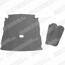 1990-92 Mustang Hatchback Titanium Cloth Sunvisor And Headliner Kit