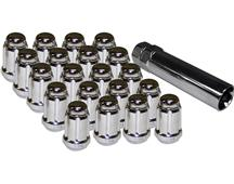 Mustang Spline Drive Lug Nut Kit Chrome