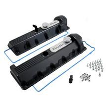 F-150 SVT Lightning Trick Flow Aluminum Valve Covers, 13/14 Bolt Windsor Black (99-04) 5.4