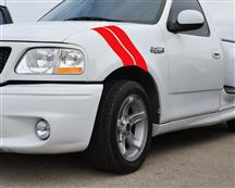 F-150 SVT Lightning SVE Fender Hash Marks, LH Driver Side Red (93-04)
