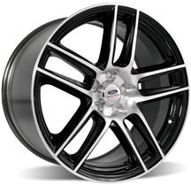 "2005-14 MUSTANG FORD RACING 2012 BOSS 302 LAGUNA SECA 19x10"" REAR BLACK WHEEL WITH MACHINED FACE, M-1007-DC1910LGB"
