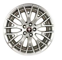 Mustang Ford Racing GT Performance Pack Front Wheel 19x9 Sparkle Silver (2015)
