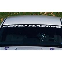 Mustang Ford Racing Windshield Banner White (05-14)