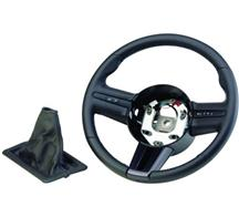 Mustang Ford Racing Steering Wheel and Shift Boot Black Stiching (05-09)