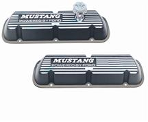 Mustang Ford Racing Valve Covers w/ Mustang Logo Black (86-93) 5.0L