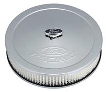 "Mustang Ford Racing 13"" Chrome Air Cleaner Kit (79-85)"