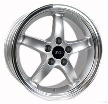 1994-04 Mustang Silver with Machined Lip Cobra R  Wheel - 17X9